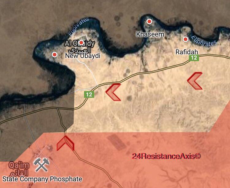 Iraqi Forces Liberated Ubaydi Subdistrict From ISIS East Of Al-Qaim (Map)