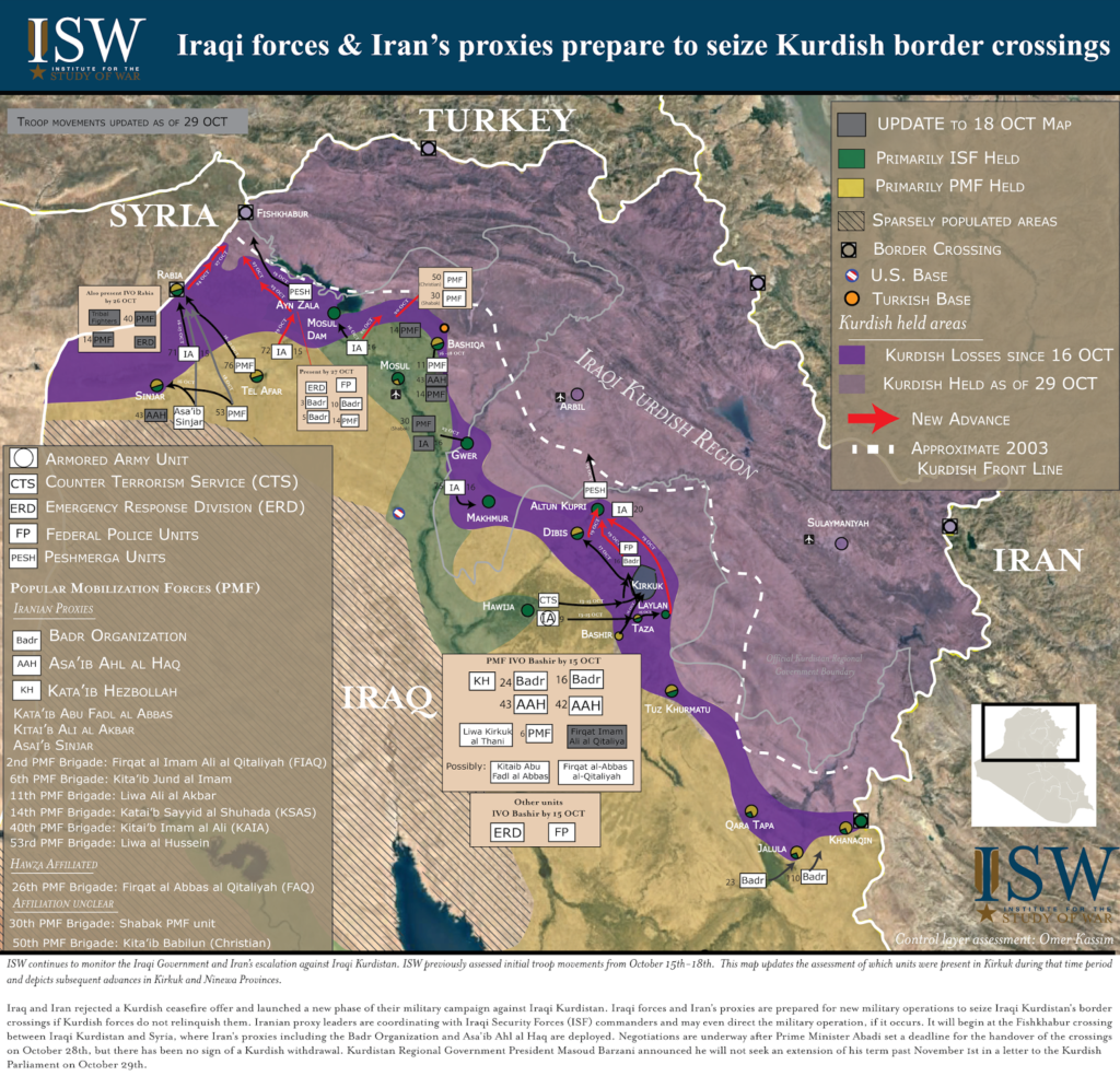 Mainstream Agenda: Iran Is Guilty In Iraqi Operation Against Separatist Kurdistan Regional Government
