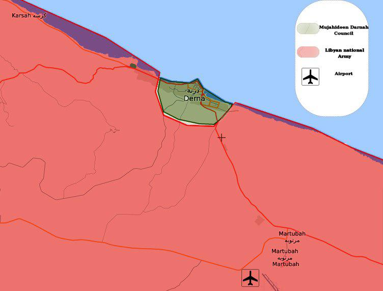 Libyan National Army Storms Militant-Held City of Derna. 17 Civilians Killed In Airstrike (Map)
