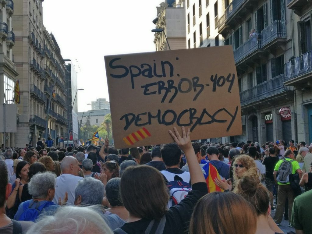 Thousands Protest In Barselona Over Police Violence During Catalan Independence Referendum