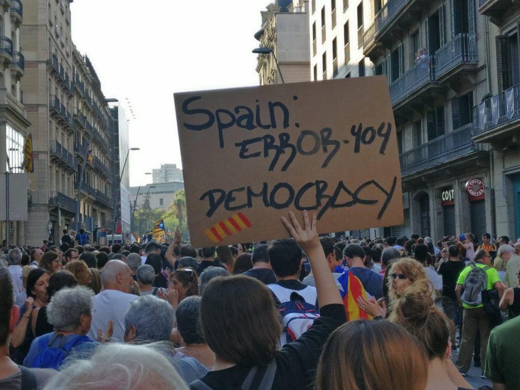 Thousands Protest In Barselona Over Police Violence During Catalan Independence Referendum