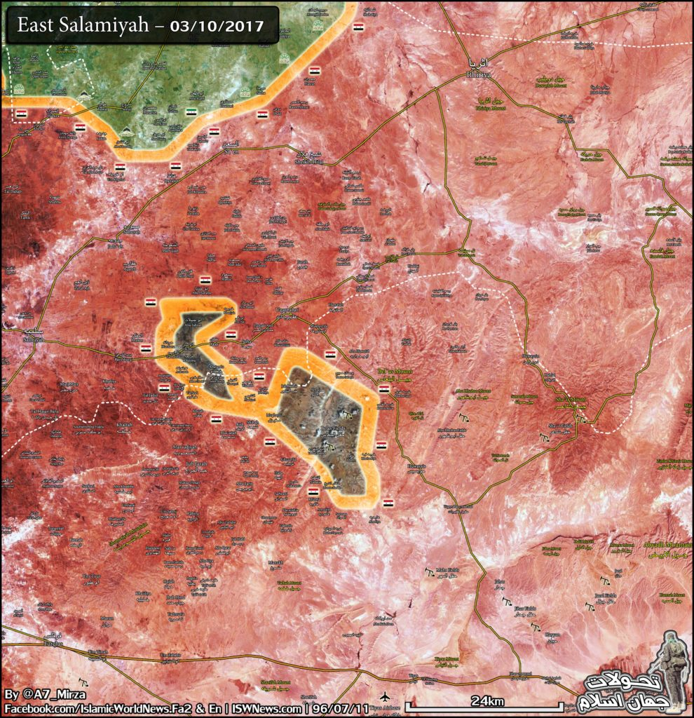 Government Troops Divided ISIS-held Pocket In Eastern Salamiyah Into Two Separate Parts (Map)
