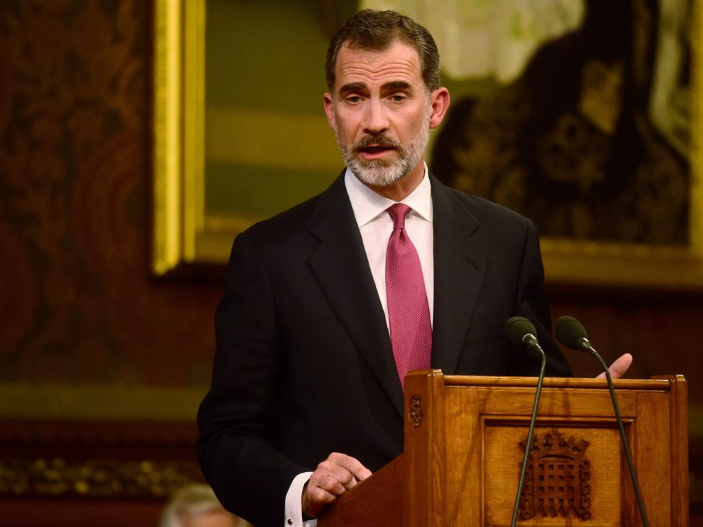 King of Spain Accuses Catalonian Leaders Of Placing Themselves Outside Law