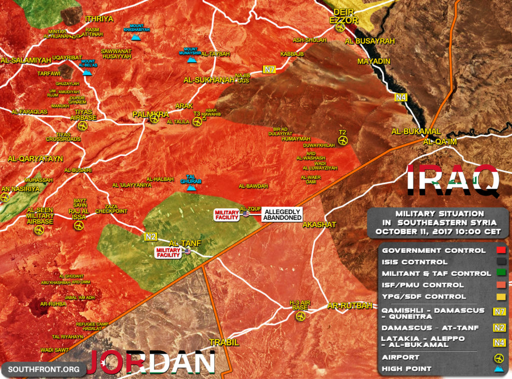 Map Update: Government Forces Took Full Control Over Large Area In Southern Syria