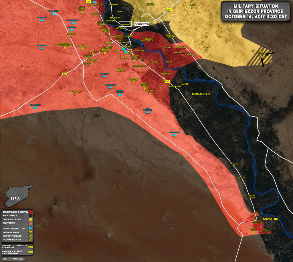 Military Situation In Deir Ezzor Countryside On October 12, 2017 (Map Update)