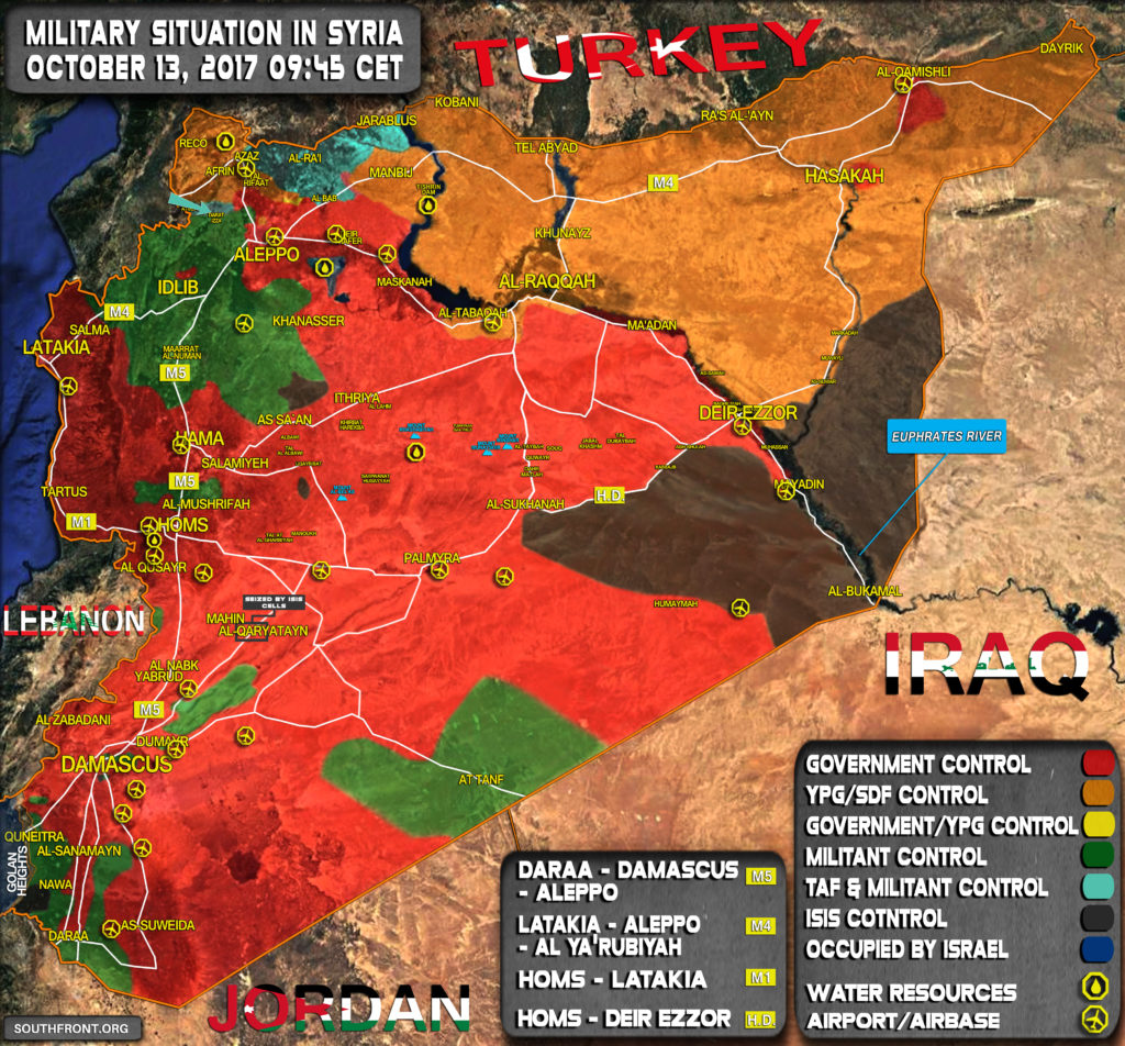 Military Situation In Syria As Turkish Armed Forces Enter Idlib Province (Map Update)