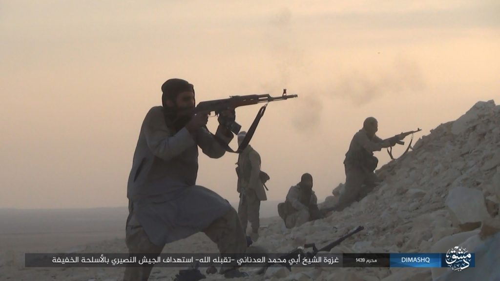 ISIS Releases Photo Set From al-Qaryatayn Countryside, Confirms Its Had Notable Force In Area
