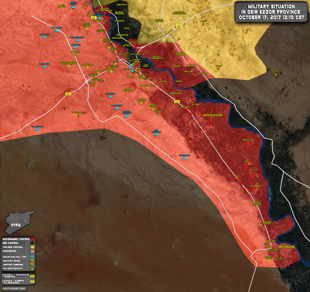 Government Forces Liberated Mohassan Town And Nearby Villages Near Deir Ezzor City (Map)