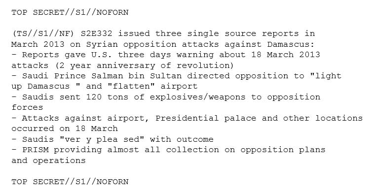 Bombshell NSA Memo: Saudi Arabia Ordered Attack On Damascus International Airport With US Knowledge