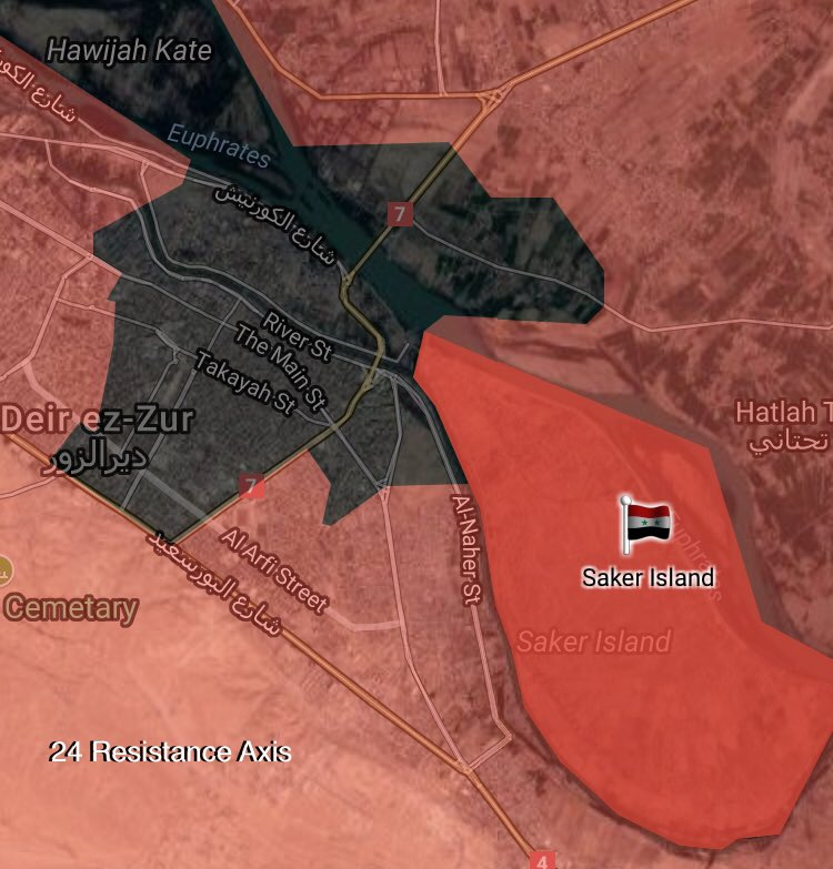 Syrian Army Liberates Saqr Island From ISIS In Eastern Deir Ezzor (Maps)