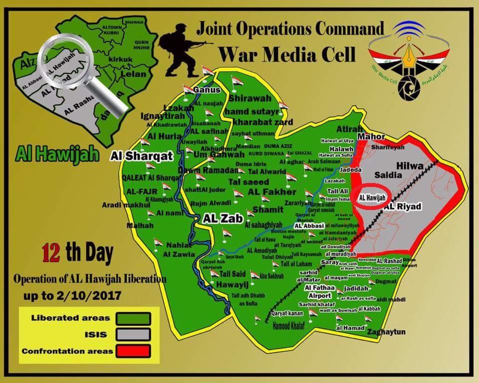 Iraqi Forces Liberated Strategic Hawija Town Southwest Of Kirkuk City