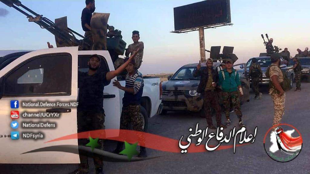 Photos: Syrian National Defense Forces Near al-Sukhna Town