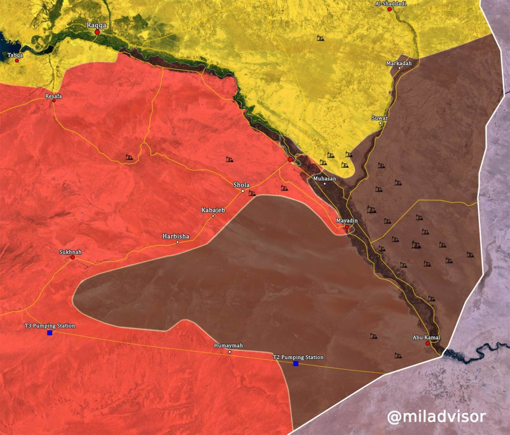 Military Situation In Central Syria: ISIS Claims Counter-Attack In Mayadin. Army Advances North Of Deir Ezzor