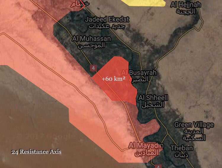Syrian Army Clearing Euphrates Bank Between Deir Ezzor And Mayadin From ISIS (Maps)