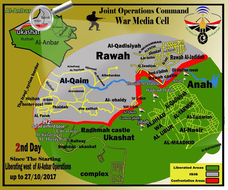 Army, Allies Liberated 301km2 In Rapid Advance Against ISIS In Western Iraq