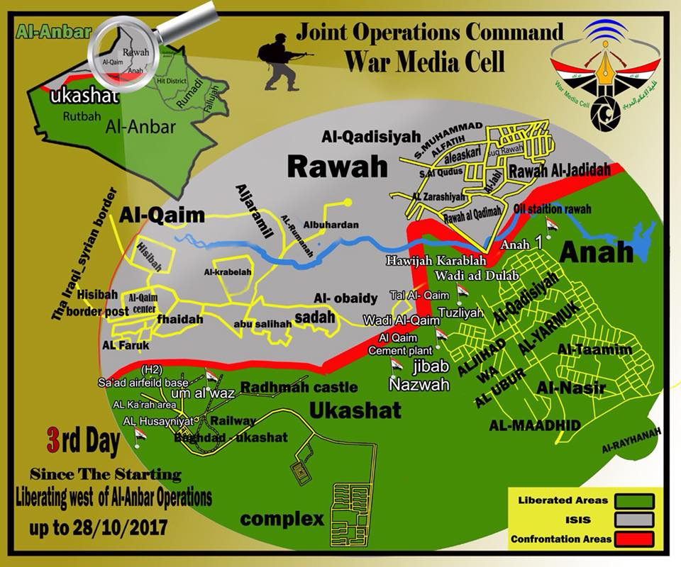 Iraqi Army, Popular Mobilization Units Prepare To Storm ISIS Stronghold Of Al-Qa'im (Map, Photos)