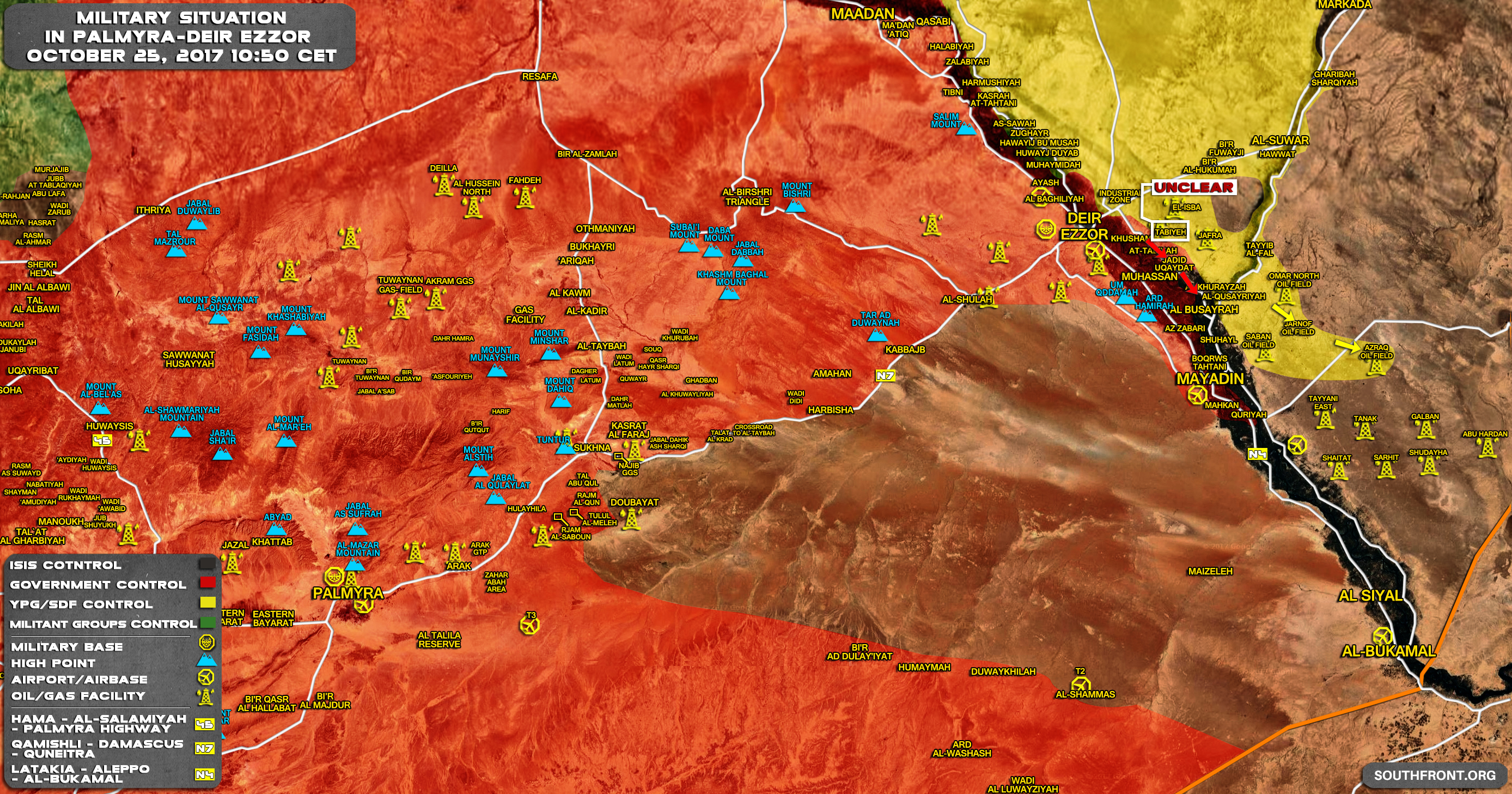 Us Backed Forces Capture More Oil Fields On Eastern Bank Of - Us-oil-fields-map