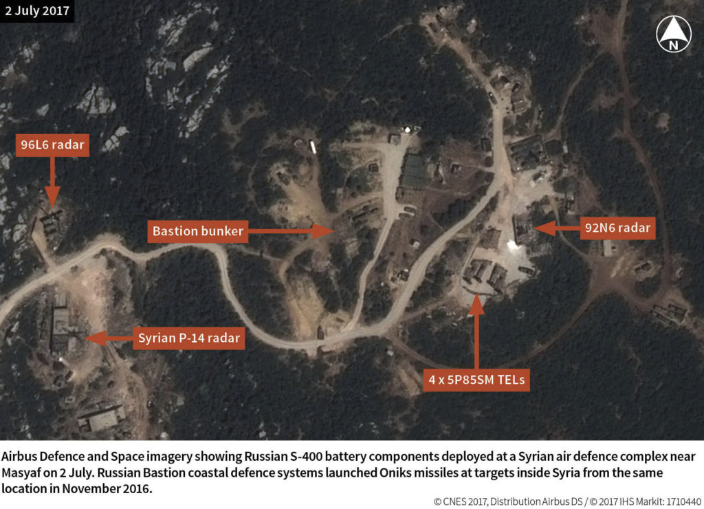 Russia Deployed S-400 Air Defense System Near Syria's Masyaf