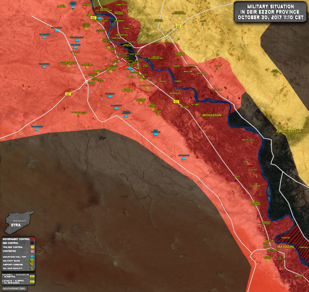 Syrian Army Puts ISIS Terrorists In Deir Ezzor City In No Win SItuation (Map, Video)