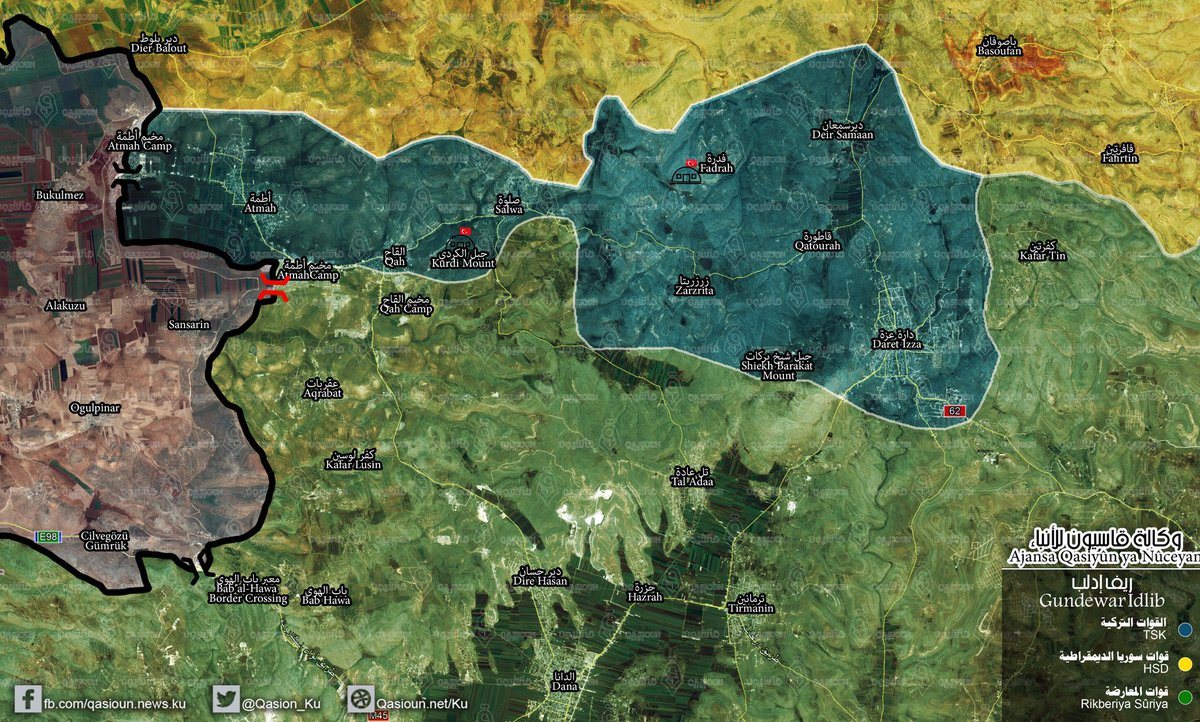 Forces Fortifying Their Positions In Syrias Idlib Province Map