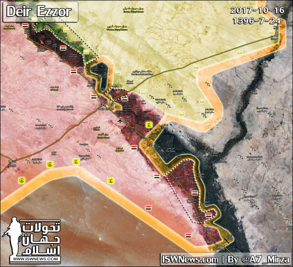 Map Update: Military Situation In Deir Ezzor Countryside On October 16, 2017