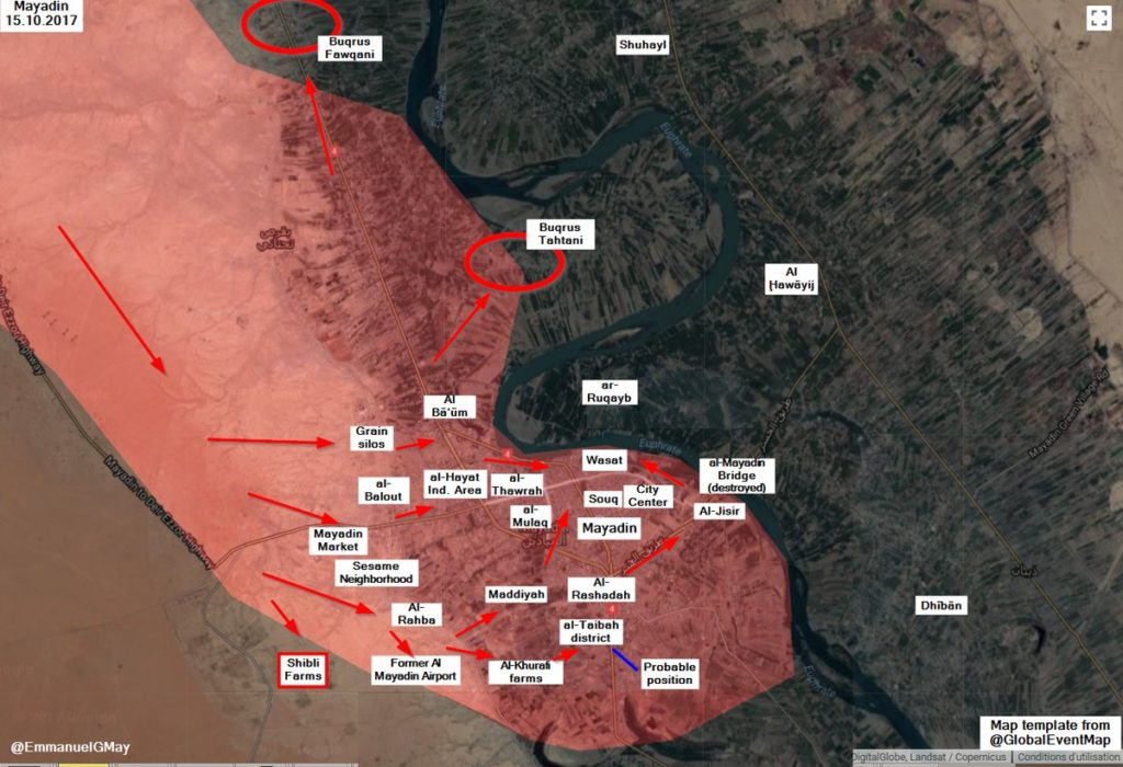 Government Forces Liberate Two Villages From ISIS Near Mayadin City (Map)