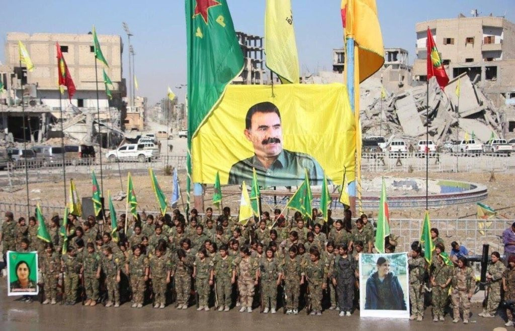US Embassy In Turkey Denounces Ocalan Banner Raised By SDF In Raqqa