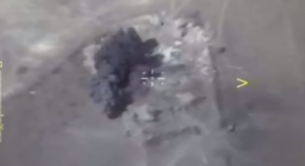 Russian Military Releases Videos Showing Airstrikes On ISIS Terrorists Entered Syria From Iraq
