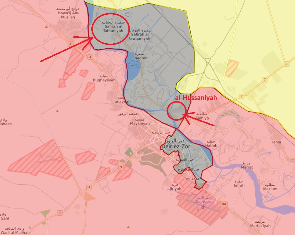 Syrian Army Takes Control Of Al-Husayniyah And Safirah at-Tahtaniyah North Of Deir Ezzor, Advances Inside City