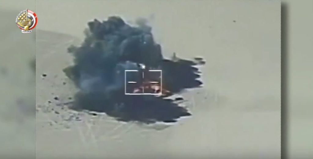 Video: Egyptian Air Force Destroyed 6 Militant Vehicles Near Border With Libya