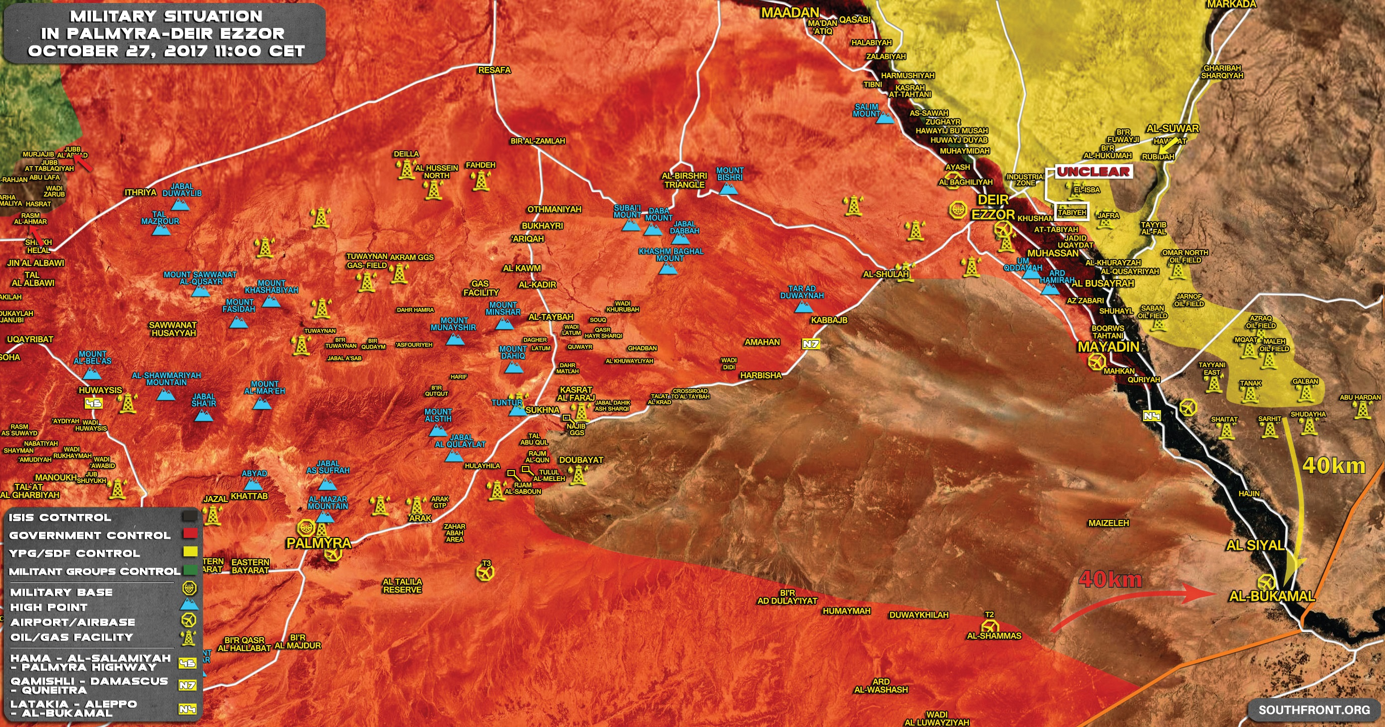 US-led Coalition Planning To Advance On Strategic Border Town Of Al-Bukamal