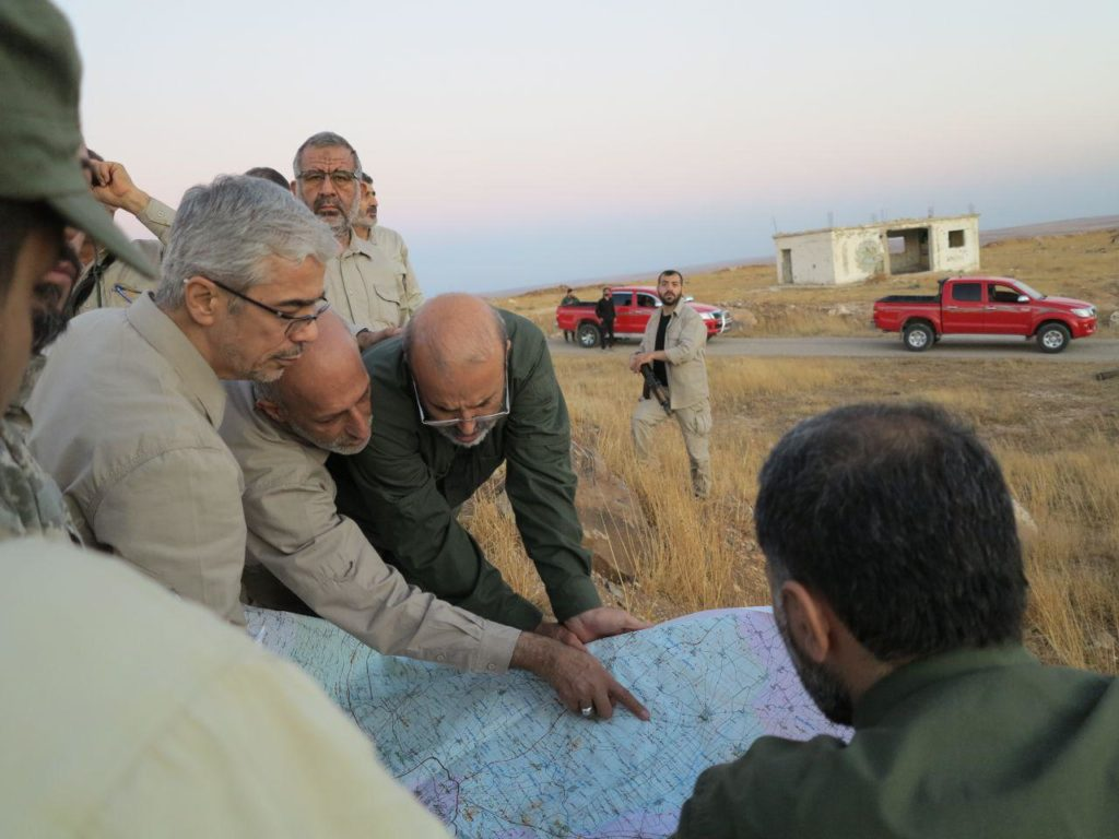 Chief of Staff Of Iranian Armed Forces Visits Frontline Against Terrorists Near Aleppo CIty
