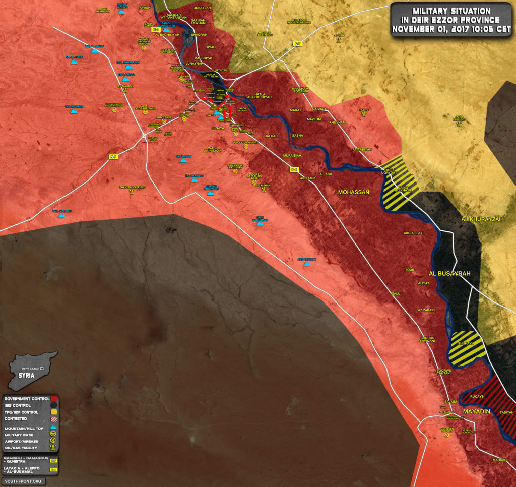ISIS Lost About 30% Of Areas Controlled In Deir Ezzor City In Just Few Days (Map, Video)