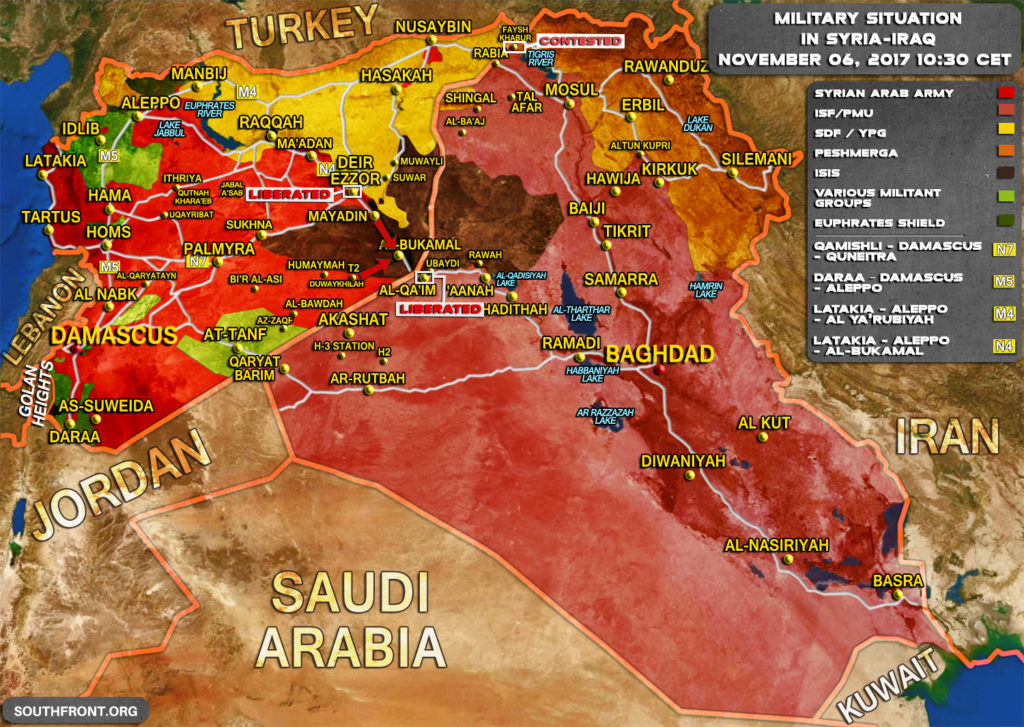 Military Situation In Syria And Iraq On October 6, 2017 (Map Update)