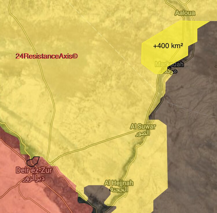 Map Update: Military Situation In Northeastern Deir Ezzor After US-backed Forces Advance In Markadah Area
