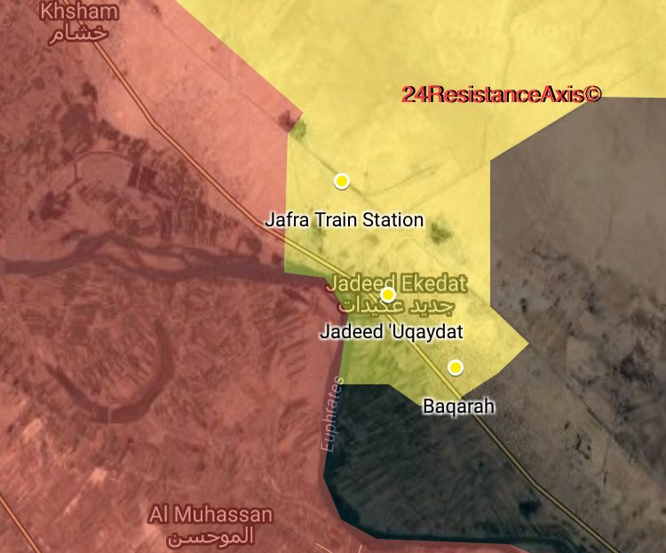 US-backed Forces Cut Off Syrian Army From Last Chance To Advance On Busariayah In Deir Ezzor Countryside