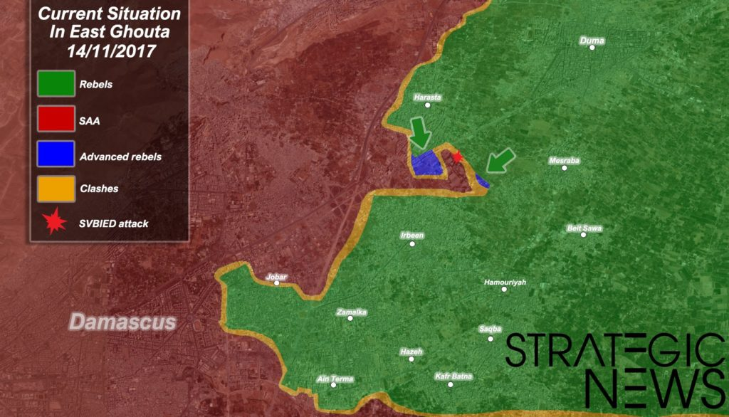 Map Update: Militants Advance Against Syrian Army In In Eastern Ghouta