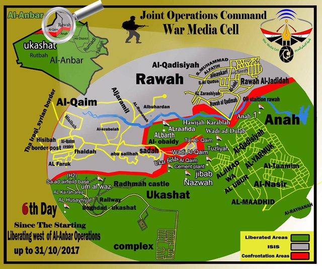Iraqi Army Liberated 70km2 South Of Al-Qa'im City
