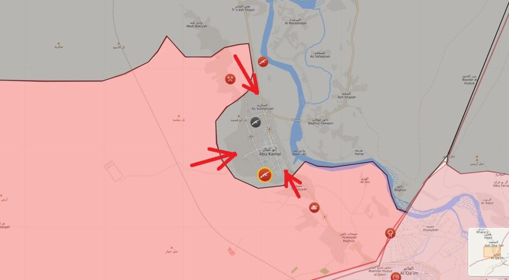 Syrian Army, Hezbollah, IRGC Storming Al-Bukamal From 3 Directions