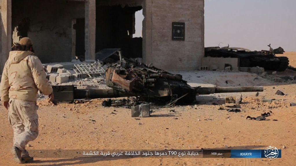 ISIS Ambushed Tiger Forces Convoy South Of al-Mayadin. T-90 Battle Tank Destroyed (Photos)