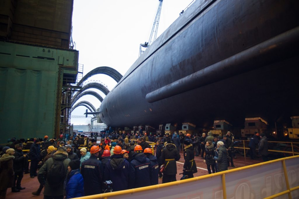 Nuclear-Powered Submarine Prince Vladimir Was Floated In Russia's Severodvinsk (Photos)