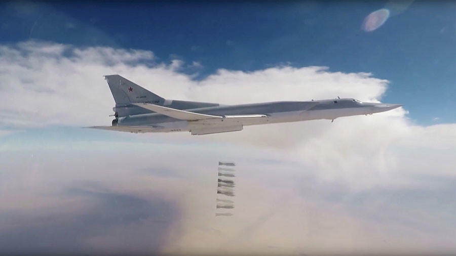 Russian Strategic Bombers Struck ISIS Terrorists Near Al-Bukamal For Third Time In Week (Video)