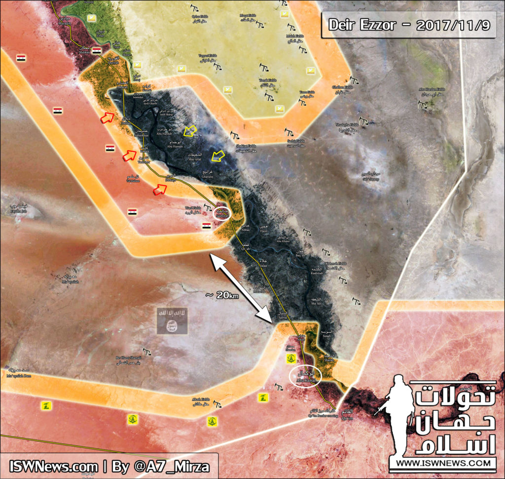 Map Update: Syrian Troops Restoring Control Over Al-Bukamal, Advancing In Euphrates Valley