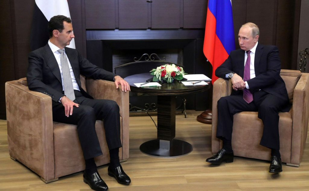 Syrian President Assad Meets With Putin In Russia's Sochi