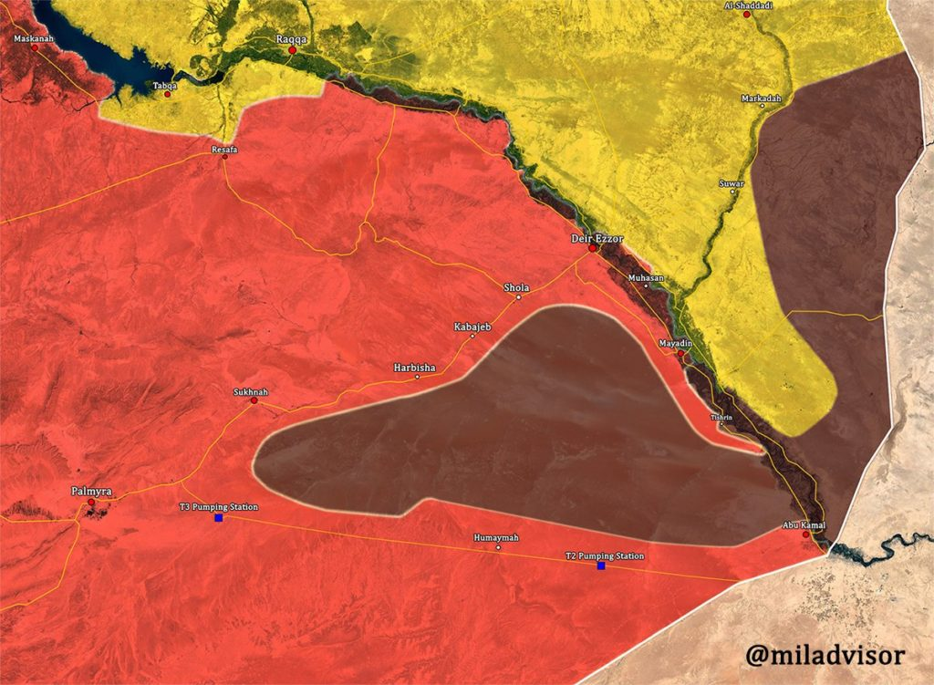 Syrian Troops Develop Momentum In Countryside Of Al-Bukamal (Map)