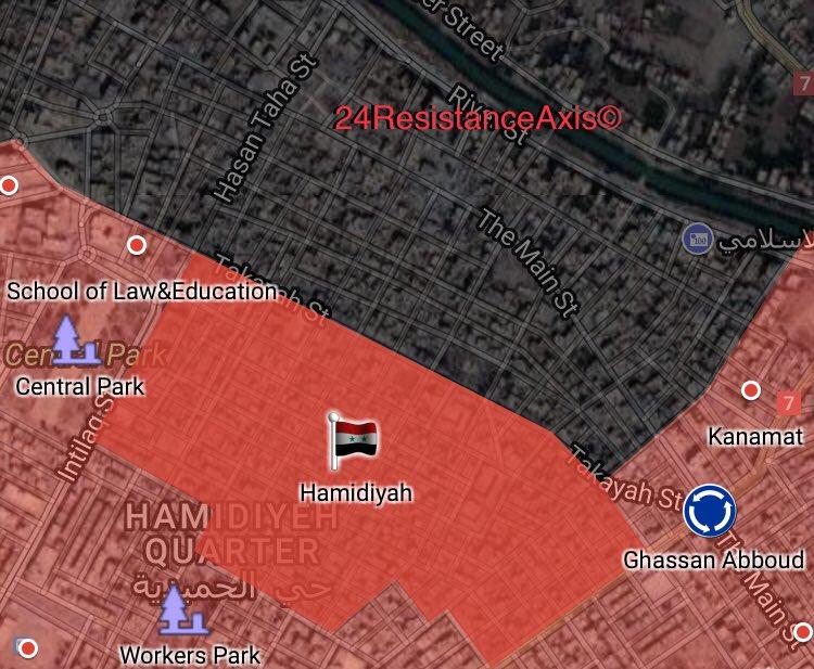 Syrian Forces Liberated Al-Hamidiyah Neighborhood From ISIS In Deir Ezzor City (Map)