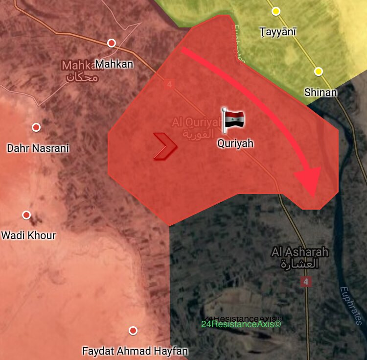 Syrian Army Recaptures Key Town South Of Mayadin City (Maps)