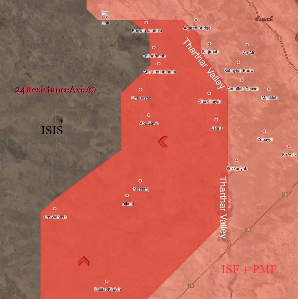 Map Update: Government Troops Liberated Over Dozen Villages From ISIS In Western Iraq