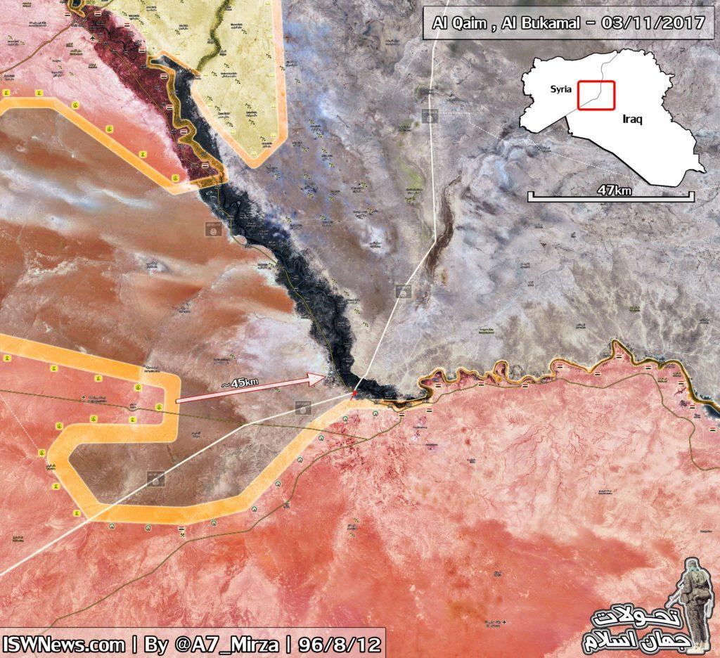 Iraqi Fores Storm Strategic Al-Qaim Town, Take Control Of Border Crossing With Syria (Map)