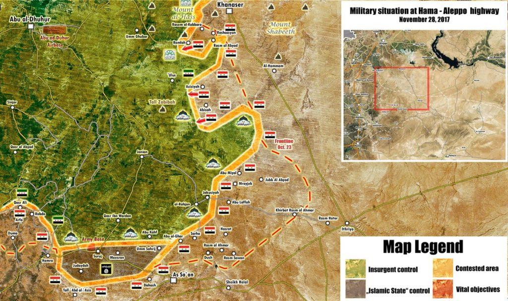 Map Update: Syrian Army Has Liberated 17 Villages From Hayat Tahrir al-Sham Since Start Of Advance Near Khanasser Highway